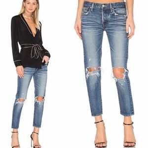 MOUSSY VINTAGE Latrobe Tapered Ankle Jeans SIZE 25